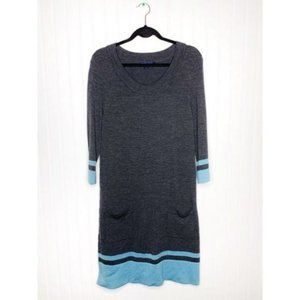 Boden Sixties Gray Knitted Sweater Dress #WH174